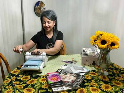 Betty Morales with her hobby