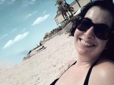 Cara Hoffer in the beach
