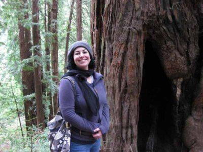 Cara Hoffer in the woods