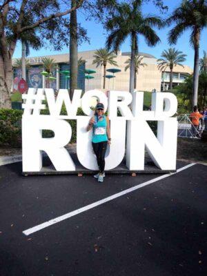 Colette Amit after running a marathon