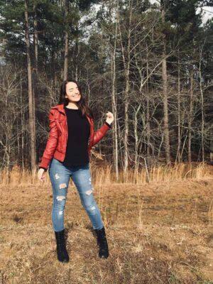 Daniella Castro in the woods