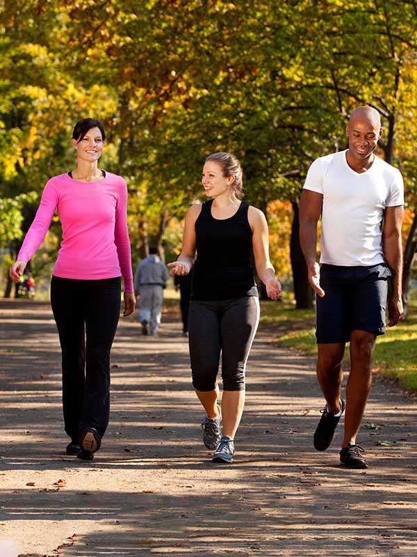 People walking for medical fitness and wellness
